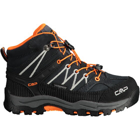 CMP Campagnolo Rigel WP Chaussures de trekking mi-hautes Enfant, antracite/flash orange
